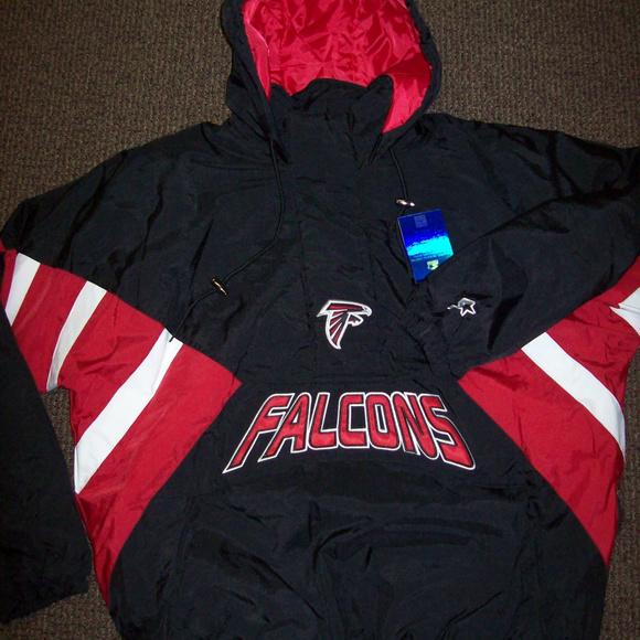 ATLANTA FALCONS STARTER Half Zip Pull Over Jacket Boutique